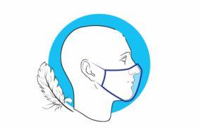 Мягкие, удобные резинки для фиксации на лице