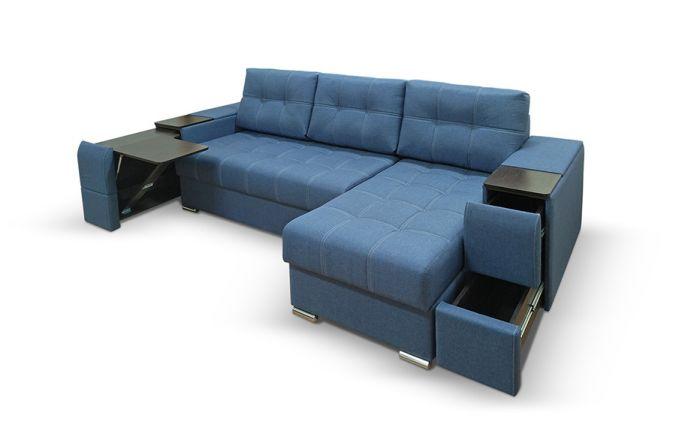 Угловой диван со столиком Риф. Sinii