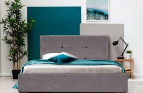 Кровать Азалия 2 1,6 м. Ткань Нео 07