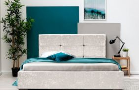 Кровать Азалия 2 1,6 м. Ткань Нео 13