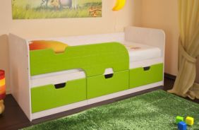 Детская кровать Минима, Цвет: МДФ «Лайм»