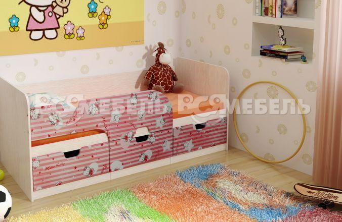 Детская кровать Минима, Цвет: МДФ «Pink»