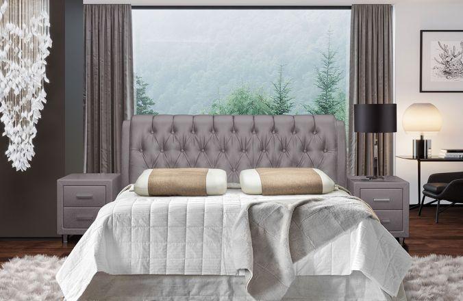 Кровать Клеопатра. Ткань Velutto 08