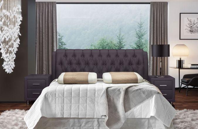 Кровать Клеопатра-2. Ткань Velutto 19