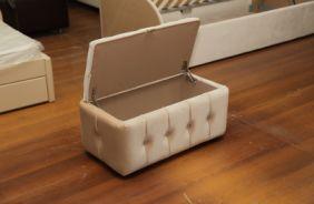 Банкетка с ящиком. Фото с производства