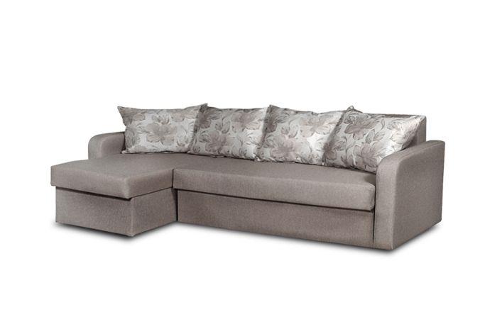 Угловой диван–еврокнижка Домино. Grafit