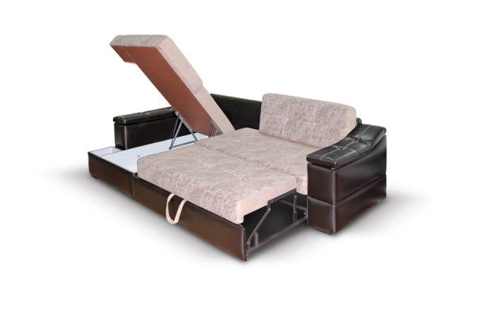 Большой угловой диван Премьер. Ящик для белья