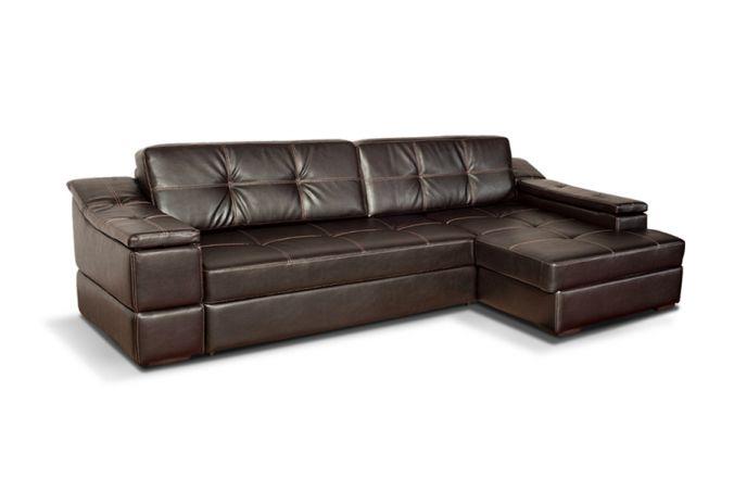 Большой угловой диван Премьер. Choco