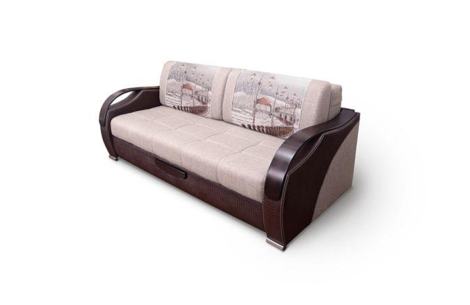 Прямой выкатной диван Диор Люкс. Beige