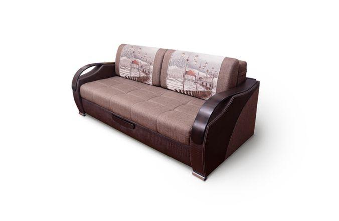 Прямой выкатной диван Диор Люкс. Choco