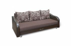 Прямой тканевый диван Леон. Choco