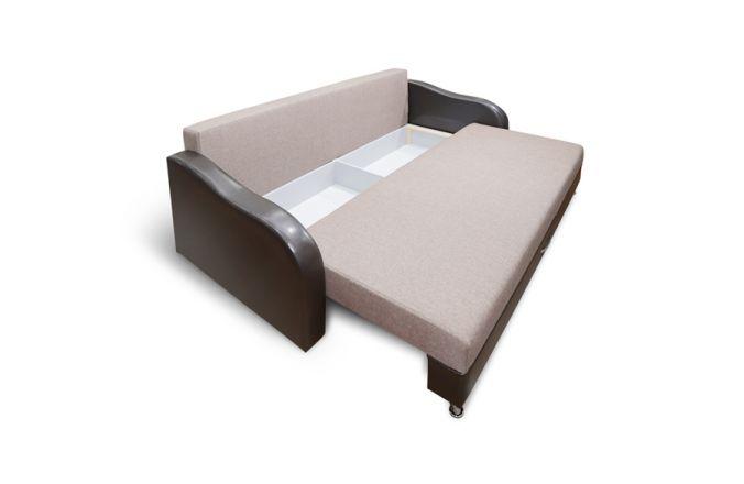 Прямой тканевый диван Леон. Beige