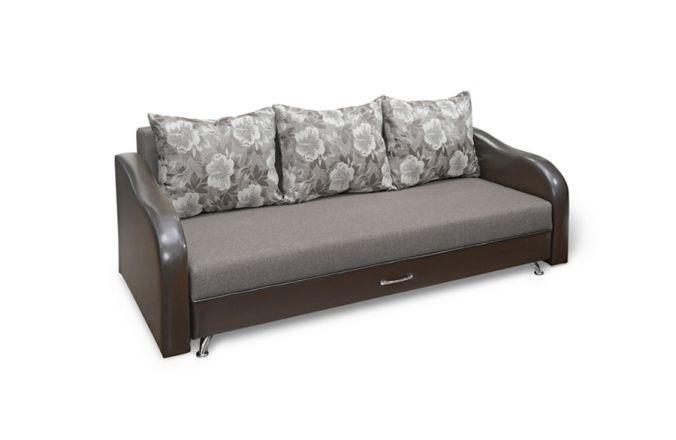 Прямой тканевый диван Леон. Grafit