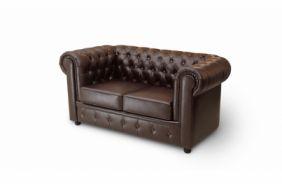 Прямой диван Честер 2-х местный. Choco