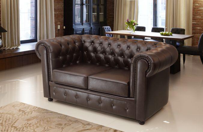 Прямой диван Честер 2-х местный