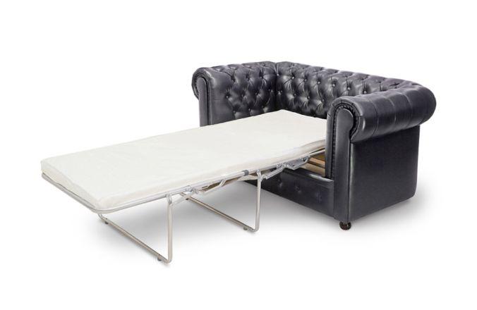 Прямой диван Честер 2-х местный. Black