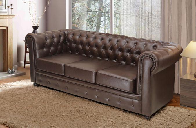 Прямой диван Честер 3-х местный