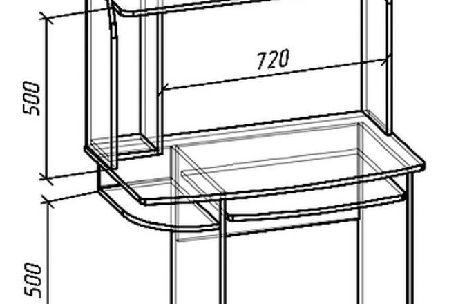 Купить белый компьютерный стол в Пензе в магазине ВСЯМЕБЕЛЬ