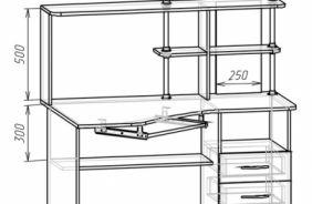 Компьютерные столы с надстройкой купить компьютерный стол с надстройкой в Пензе, в магазине ВСЯМЕБЕЛЬ