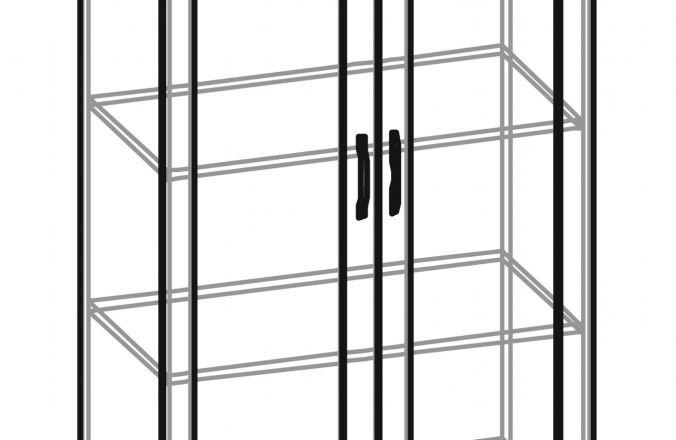 Книжные шкафы со стеклянными дверцами от 4100р купить недорого в Пензе в магазине ВСЯМЕБЕЛЬ