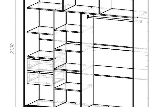 Купить шкаф-купе из качественных материалов, вежливое обслуживание и бесплатная доставка, магазин ВСЯМЕБЕЛЬ