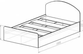 Кровать с кромкой