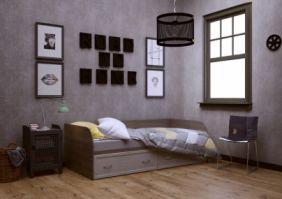 Кровать с ящиками (сп. место 2х0.9 м)