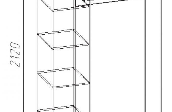Шкаф 3-х створчатый Анна