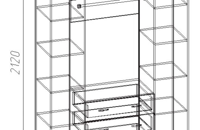 Шкаф 4х-створчатый Анна