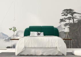 Мягкая односпальная кровать