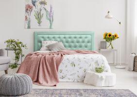 Мягкая кровать из экокожи