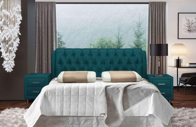 Кровать Клеопатра-2. Ткань Velutto 20
