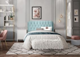 Кровать для спальни с изголовьем