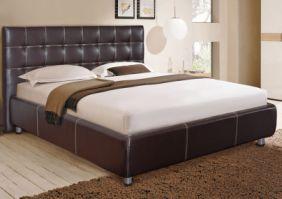 Односпальная кровать с мягким изголовьем